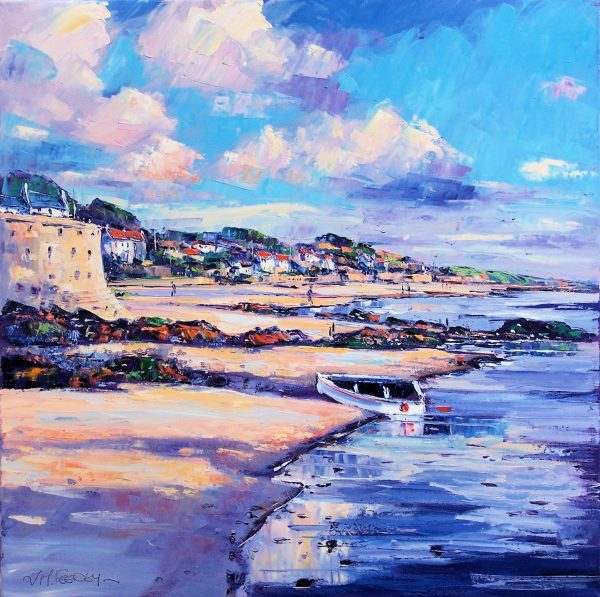 Jean Feeney_Soft clouds above Elie_Oils_24x24