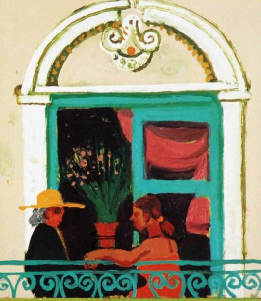 Leon Morrocco_Balcony, Nice_183x157