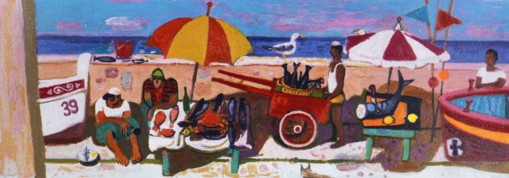 Leon Morrocco_Moroccan Fisherman_Silkscreen_234x657