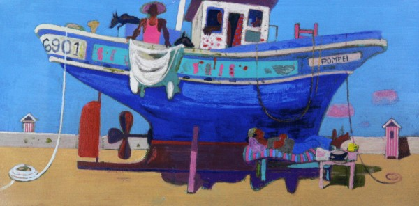 Leon Morrocco_Siesta at the Boatyard_Silkscreen_380x760
