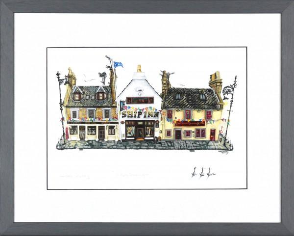 Nicola Kleppang_A Ferry Good Night_Signed Print_Framed 13x16_image 7.5x10.5