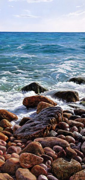 Marc Estive_Seascape I_Oils_15.5x32