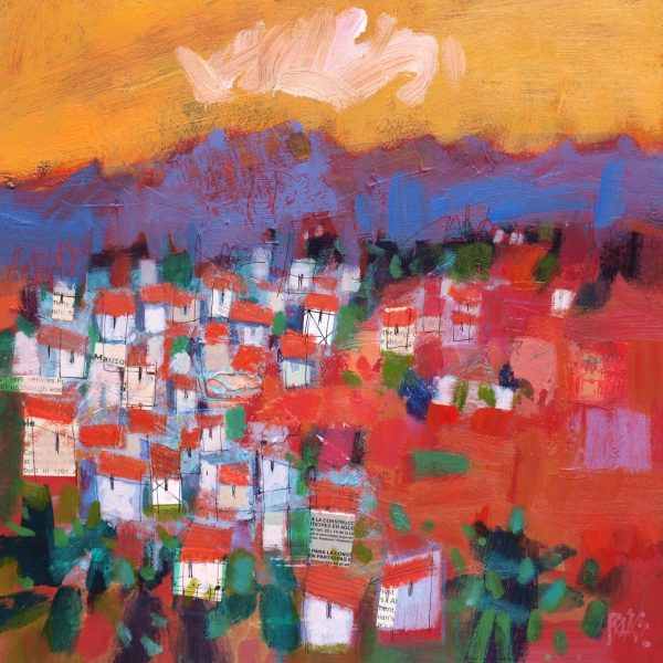 Francis Boag_Casares Orange_Mixed Media_12x12_90602