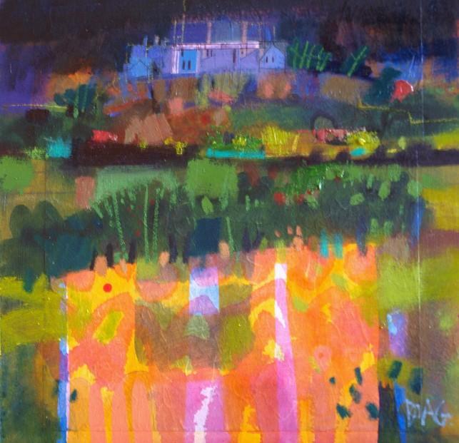 Francis Boag_Stirling Castle Dusk_Mixed Media_12x12_90318