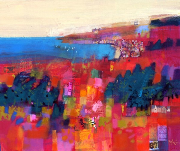 Francis Boag_Stonehaven Summer_Mixed media_20x24_90526