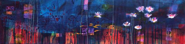 Francis Boag_Ury Home Pond II_Mixed Media_12x47_90616