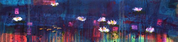 Francis Boag_Ury Home Pond I_Mixed Media_12x47_90615