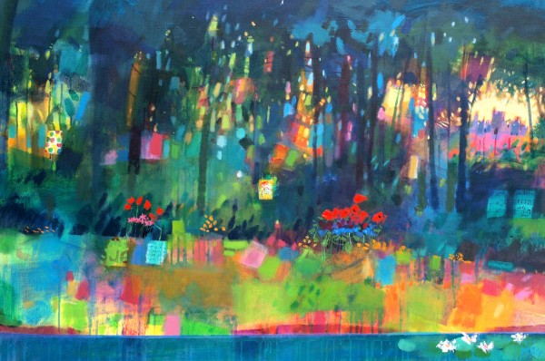Francis Boag_Ury House Amongst the Trees_Mixed Media_31x47_90609