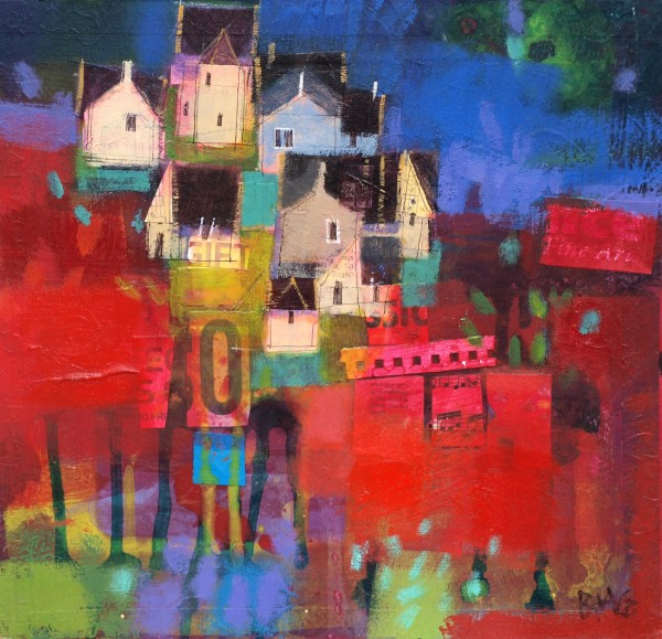 Francis Boag_Ury Houses_Mixed Media_12x12_90604