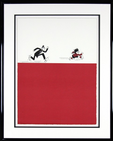 JohnPatrick Reynolds_Chasing Dennis _Signed Limited Edition Artist Proof Print_39x32_Framed