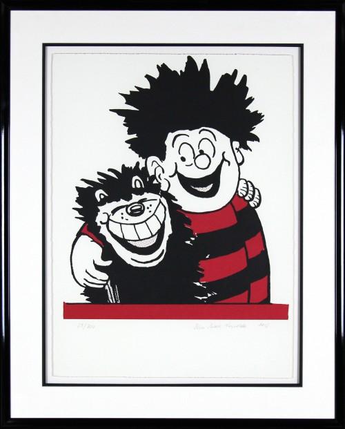 JohnPatrick Reynolds_Dennis and Gnasher_Signed Limited Edition Print_39x32_Framed