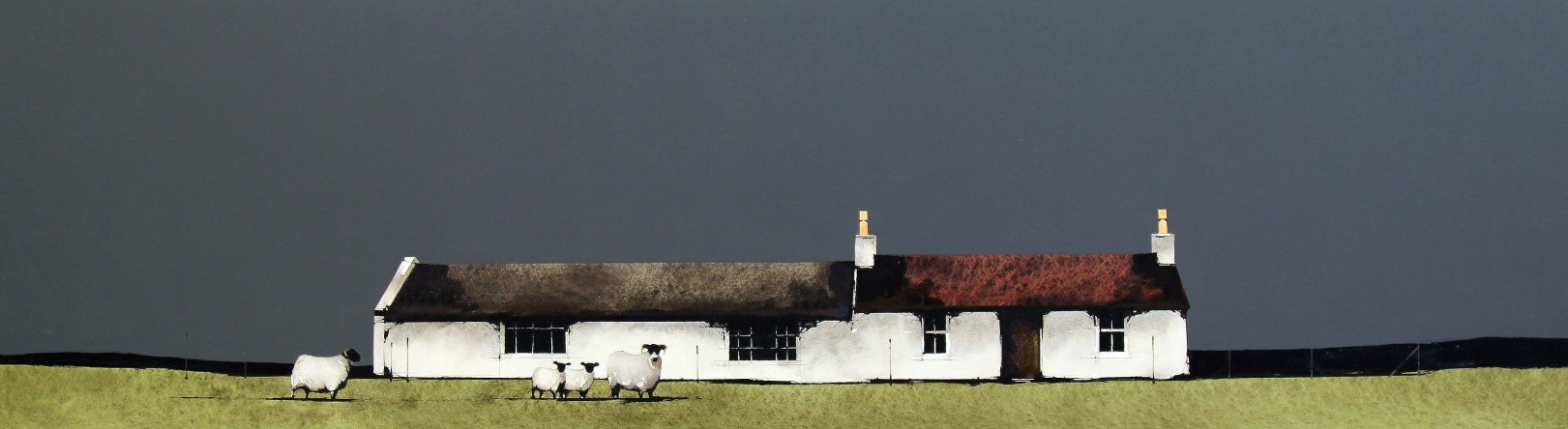 Ron Lawson_Bruich Laddich, Islay_Watercolour & Gouache_EAS570_11x38.5_V