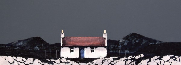 Ron Lawson_Cottage, Jura_EAS581_Watercolour & Gouache_8.5x22.5