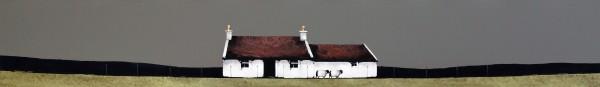 Ron Lawson_Cottage & Shed, Gigha_EAS595_Watercolour & Gouache_5.5x38.5