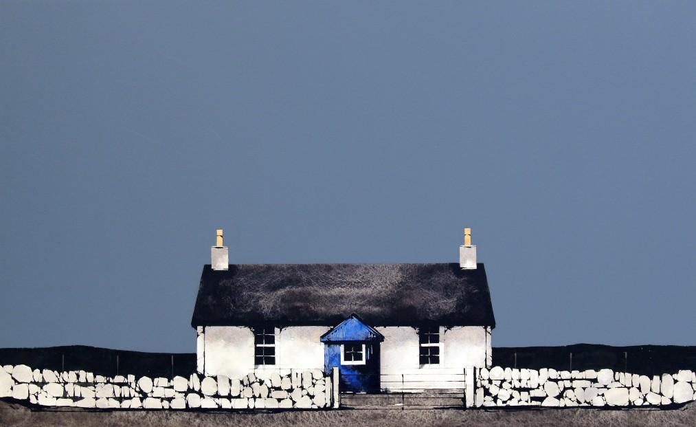 Ron Lawson_Cottage at Dougarie, Arran_Watercolour & Gouache_EAS574_15.5x25_V