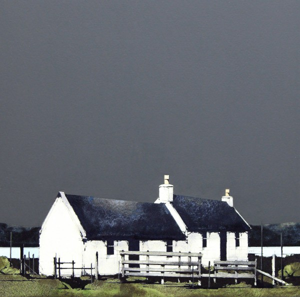 Ron Lawson_Cottage at Pennyghael, Mull_EAS601_Watercolour & Gouache_12x12