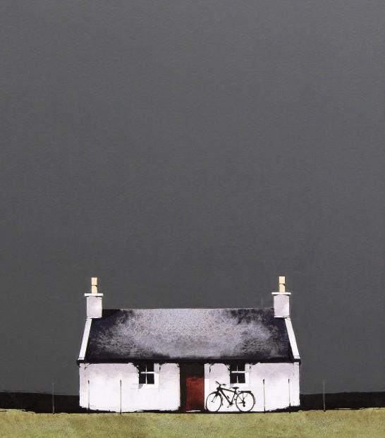 Ron Lawson_Cycle Tour_EAS588_Watercolour & Gouache_15.5x13.5