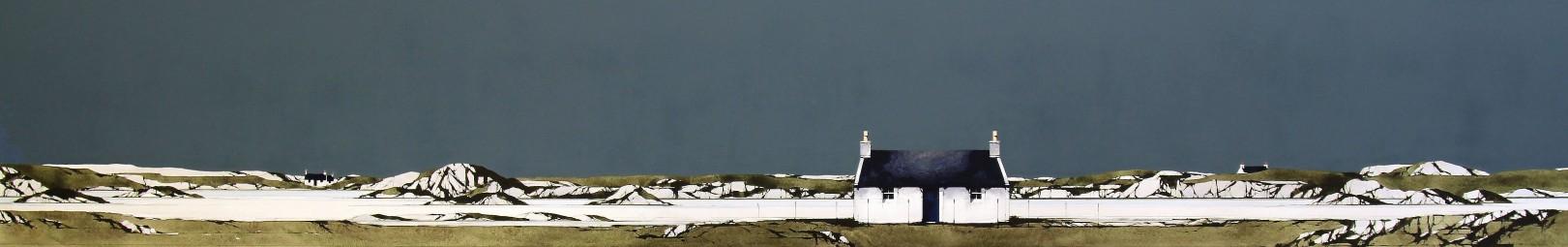 Ron Lawson_Fidden Bay, Mull III_EAS591_Watercolour & Gouache_9.5x59
