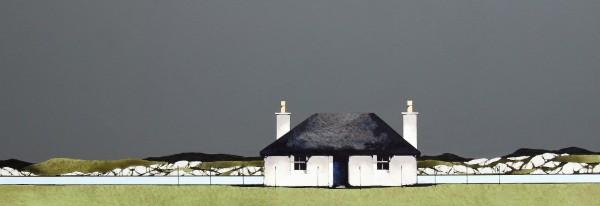 Ron Lawson_Fionnphort, Mull II_EAS597_Watercolour & Gouache_11x31