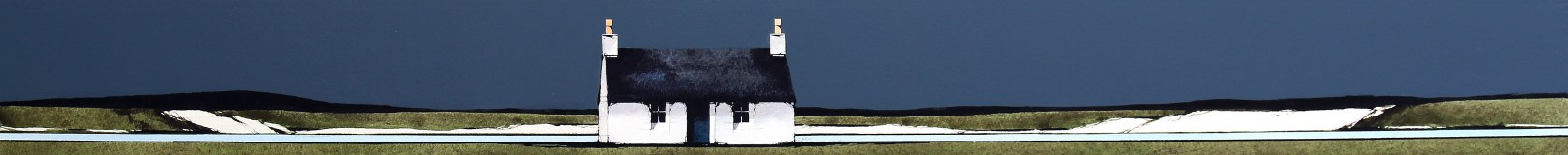 Ron Lawson_Island Cottage I_EAS605_Watercolour & Gouache_3.75x38.5