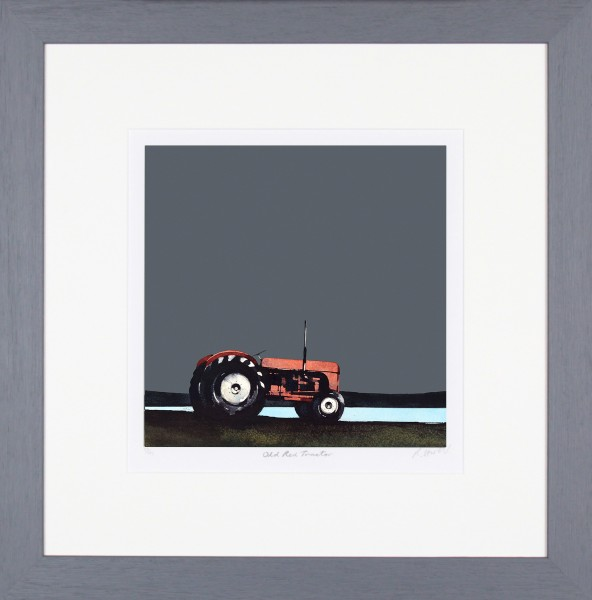 Ron Lawson_Old Red Tractor_20x19.5_Framed print