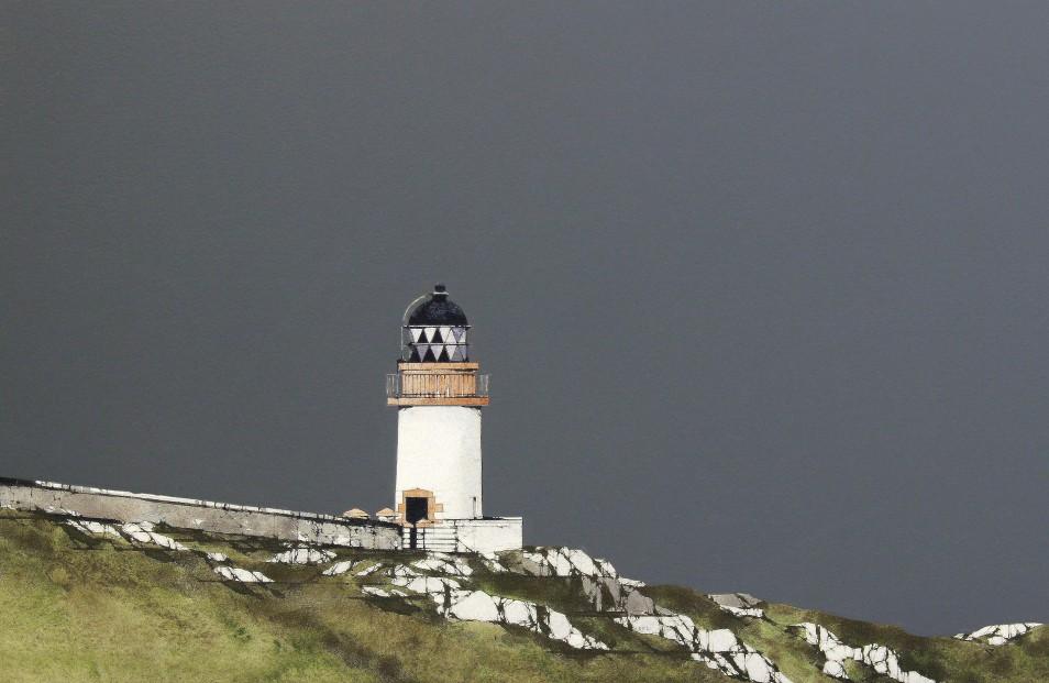Ron Lawson_Port Charlotte Lighthouse II_Watercolour & Gouache_EAS569_13x20.5_V