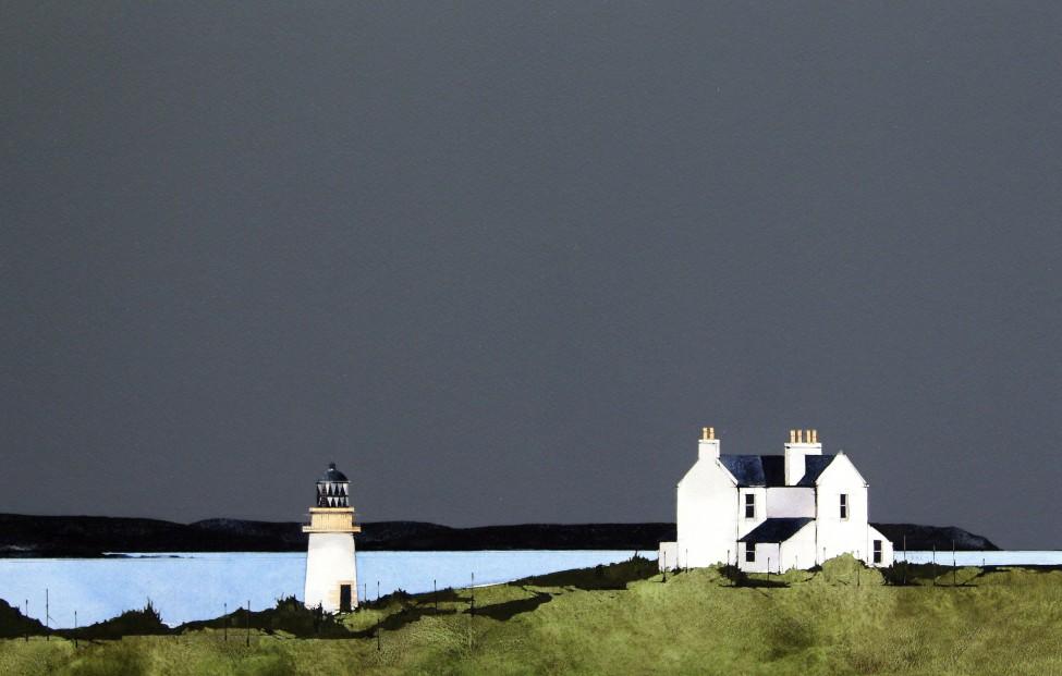 Ron Lawson_Port Charlotte Lighthouse I_Watercolour & Gouache_EAS568_12x18_VI