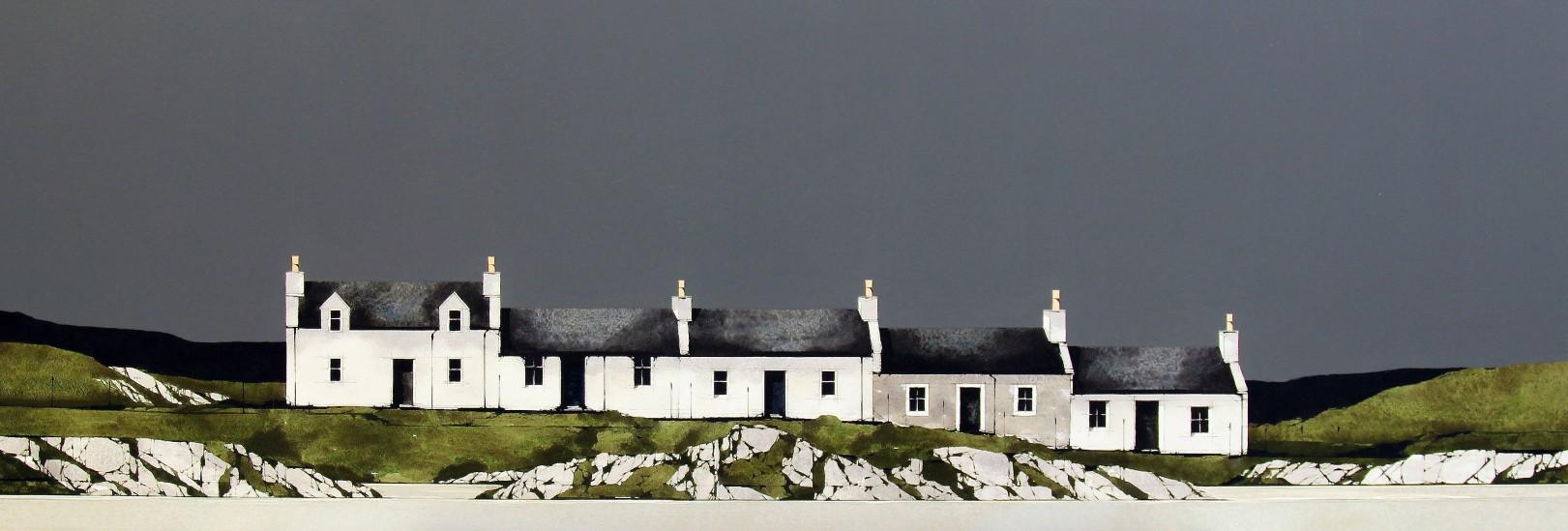 Ron Lawson_Port Ellen, Islay_Watercolour & Gouache_EAS566_13x38.5_VI