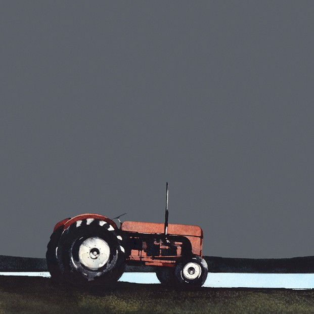 Ron Lawson_RL_Old Red Tractor_10x10