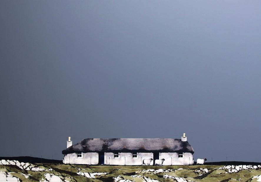 Ron Lawson_Sheila's Cottage, Mull II_EAS604_Watercolour & Gouache_32x47