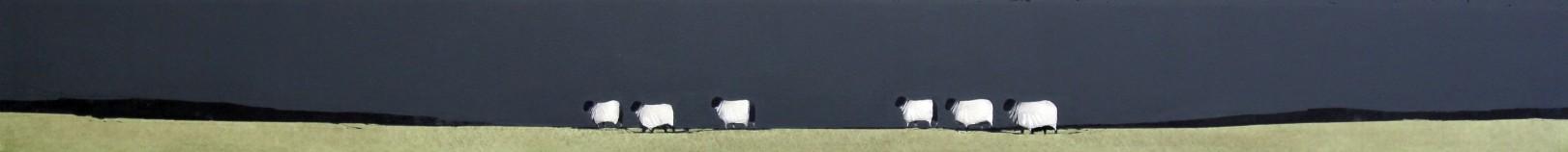 Ron Lawson_Wandering Sheep_EAS607_Watercolour & Gouache_3.75x38.5