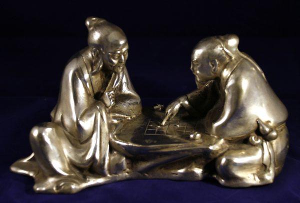 Elders playing Chinese Chess_Post 1940_5x8.5