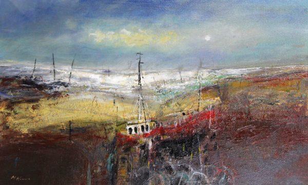Nael Hanna_Angus Fishing Boat_Oils_23x38