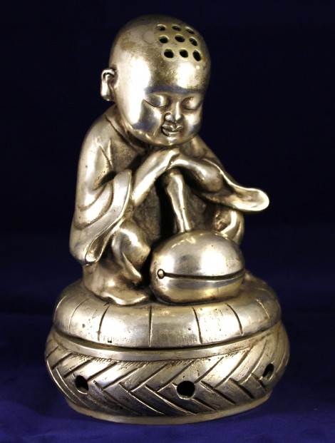 Young Buddhist Monk Praying_Post 1940_6.5x4.5