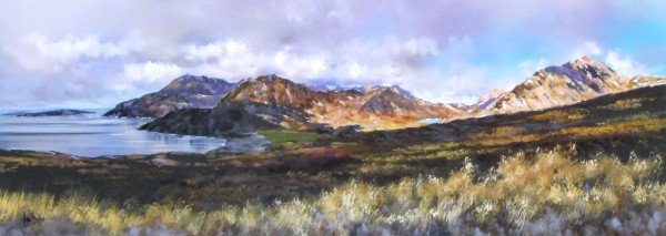 Allan Morgan_The Cuillins, Isle of Skye_Original Oils_15x40