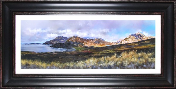 Allan Morgan_The Cuillins, Isle of Skye_Original Oils_26x51_Framed