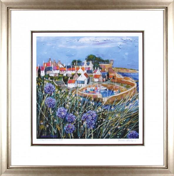 Deborah Phillips_Clifftop Allium, Crail_25x25_Framed Print