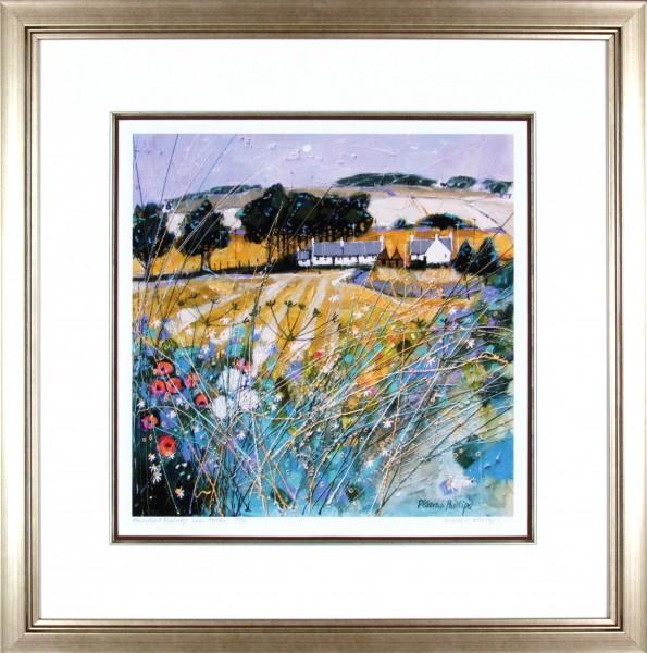 Deborah Phillips_Farmstead Fieldedge near Forfar_25x25_Framed Print