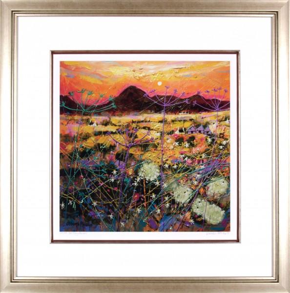 Deborah Phillips_Hot Fiery Sunset_25x25_Framed Print