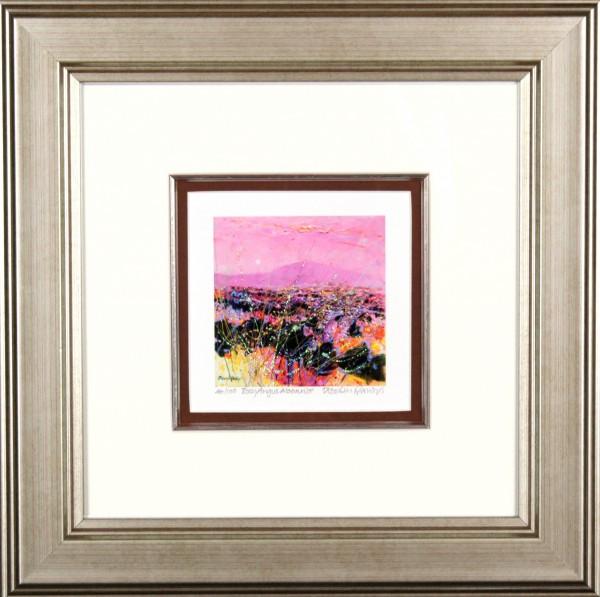 Deborah Phillips_Rosy Angus Moonrise_14x14_Framed Print