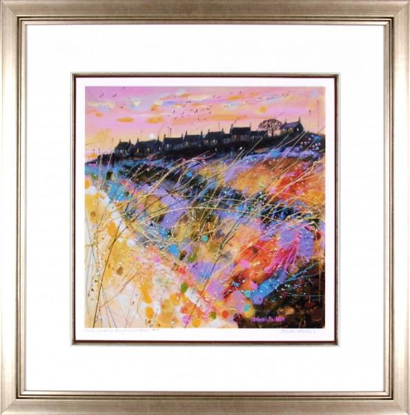 Deborah Phillips_Winter Sunset Ballyhornan Beach_25x25_Framed Print