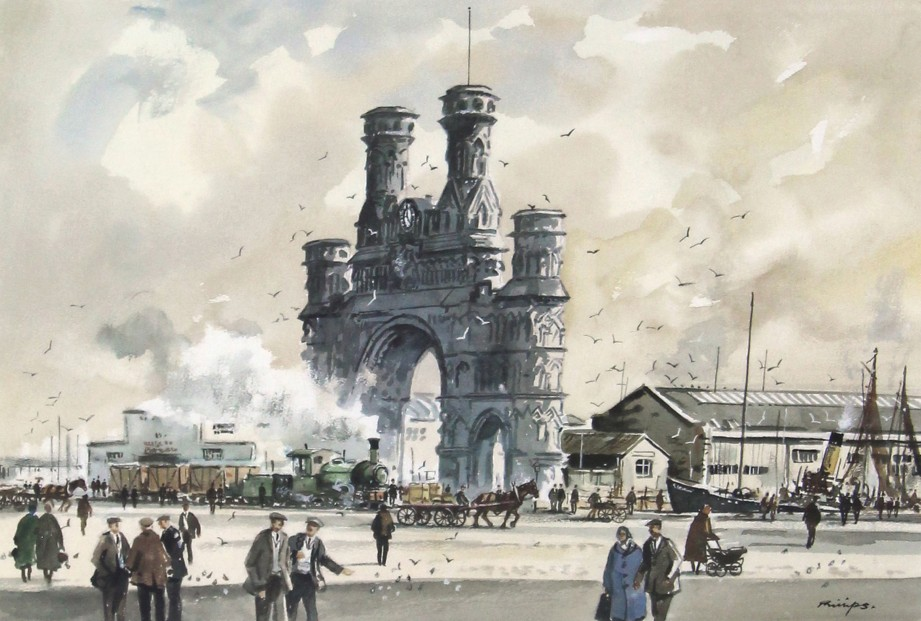 Douglas Phillips_The Royal Arch, Dundee_14X21
