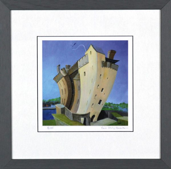 Gail Stirling Robertson_Broughty Ferry Castle_11.5x11.5_Framed Print