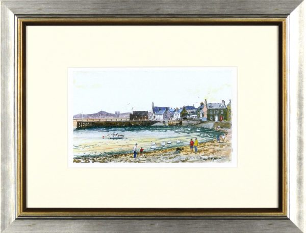 Harry McGregor_Beach Crescent, Broughty Ferry_10x13_Framed Lettercard Series