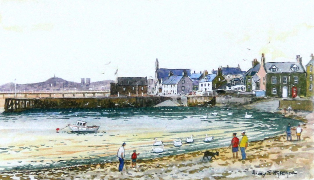 Harry McGregor_Beach Crescent, Broughty Ferry_4x7_Framed Lettercard Series