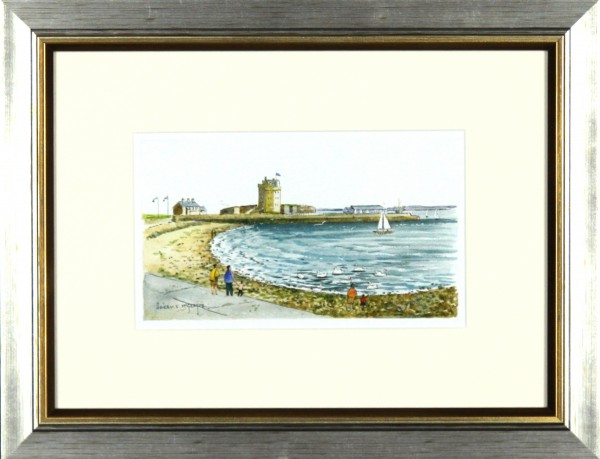 Harry McGregor_Broughty Ferry Castle_10x13_Framed Lettercard Series