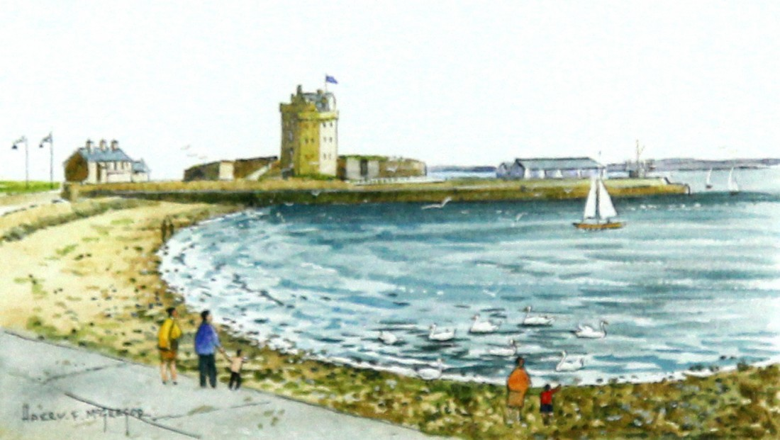 Harry McGregor_Broughty Ferry Castle_4x7_Framed Lettercard Series