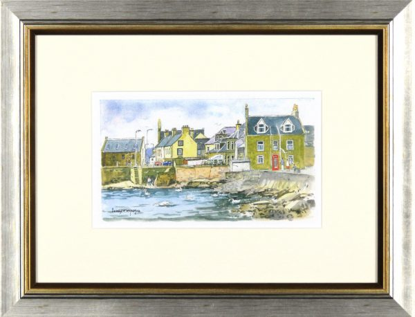Harry McGregor_Feeding the Swans_10x13_Framed Lettercard Series