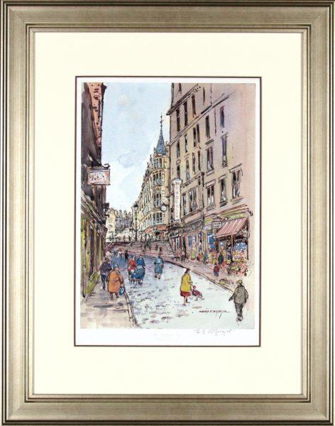 Harry McGregor_Wellgate Steps_24.5x19.5_Framed Print