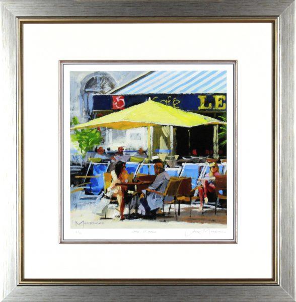 Jack Morrocco_Cafe St Malo_23x23 framed